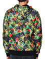 Empyre The Riot Green Tropical Hooded Tech Fleece Jacket