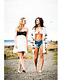 Empyre Tiana Multicolor Print & Cream Strapless Dress