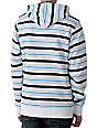 Empyre Traunt White & Blue Plaid Sherpa Hoodie
