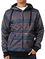 Empyre Virtus Red & Grey Striped Tech Fleece Jacket