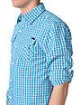 Empyre Wang Dang White & Blue Woven Shirt