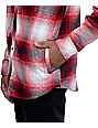 Empyre West Coast Red Shadow Hooded Flannel Shirt
