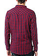 Empyre Whistle Punk Red Plaid Flannel Shirt