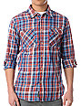 Etnies Bakersfield Blue Plaid Long Sleeve Button Up Shirt