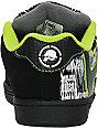 Etnies Boys x Metal Mulisha Fader Black & Green Shoes