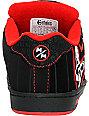 Etnies Boys x Metal Mulisha Fader Black & Red Shoes