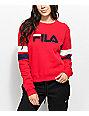 FILA Newton Red Crew Neck Sweatshirt