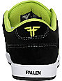 Fallen Shoes Patriot II Black & Lime Skate Shoes