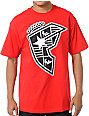 Famous Stars & Straps Badge Of Honor Silhouette Red T-Shirt