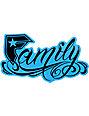Famous Stars & Straps Black & Blue 6 Family Sticker