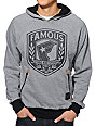 Famous Stars & Straps Shield Grey Pullover Hoodie