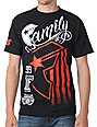 Famous Stars & Straps Stripe Rally Black T-Shirt