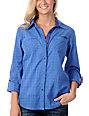 Fatal Charm Bombard Blue Chambray Woven Shirt