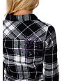 Fatal Charm Resonate Black Plaid Flannel Shirt