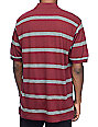 Fourstar Stripe Burgundy Polo Knit Shirt