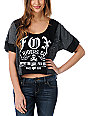 Fox Attempt Black Crop T-Shirt