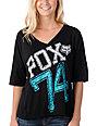 Fox Back Yoke Black Football T-Shirt