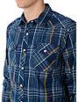 Fox Daryl Blue Woven Shirt
