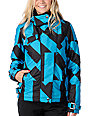 Fox Metric Geo Turquoise & Black Snowboard Jacket