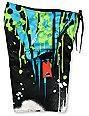 Fox Riot Black & Green Board Shorts