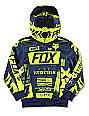 Fox Union Full Zip Boys Blue & Green Hoodie