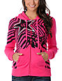 Fox x Rockstar Spike Vortex Pink Zip Up Hoodie