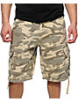 Free World Debacle Desert Camo Cargo Shorts