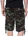 Free World Debacle Woodland Camo Cargo Twill Shorts