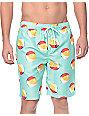 """Free World Dubtub Beach Ball Mint Easy Waist 20""""  Board Shorts"""