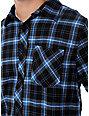 Free World Idle Black & Blue Flannel Shirt