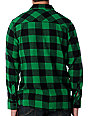 Free World Jasper Black & Green Flannel Shirt