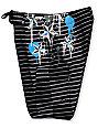 Free World Seadog 909 Black & Grey Striped 21.25 Board Shorts