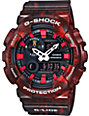 G-Shock G-Lide GAX100MB-4A Red Marble Analog & Digital Watch