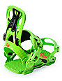 GNU Psych Green Speed Entry Snowboard Bindings