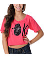Glamour Kills A-Okay Pink Slouchy Crop Top