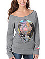 Glamour Kills Dream On Dreamer Grey Pullover Sweatshirt
