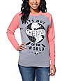 Glamour Kills Its Not The End Two Tone Crew Neck Sweatshirt