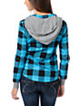 Glamour Kills Observer Teal Plaid Shirt