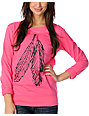 Glamour Kills Perfect Pair Pink Crew Neck Sweatshirt