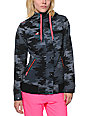 Glamour Kills Powderhorn Camo Print Black Softshell Jacket