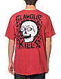 Glamour Kills Skull Eyes Red T-Shirt