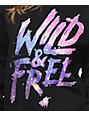 Glamour Kills Wild & Free Galaxy Black Crew Neck Sweatshirt