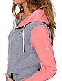 Glamour Kills Young Love Grey & Coral Zip Up Hoodie