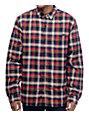 Globe Camden Navy & Red Sherpa Flannel Shirt