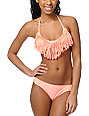 Gossip Coral Hipster Fold Over Bikini Bottom