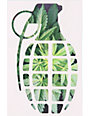 Grenade 8.5 Green Leaf Die Cut Sticker