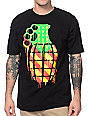 Grenade Knuckle Bomb Rasta & Black T-Shirt