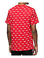 HUF Domestic All Over Print Red T-Shirt