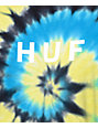 HUF OG Logo Blue & Yellow Tie Dye T-Shirt