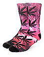 HUF Outdoors Digi Plantlife Purple Crew Socks